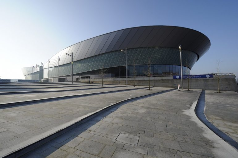Echo Arena and Conference Centre of a day time