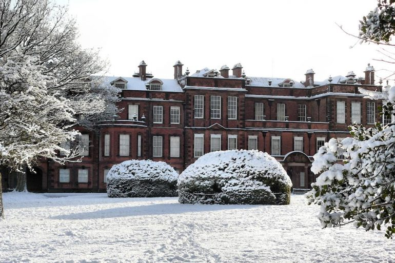 Croxteth Hall in the snow