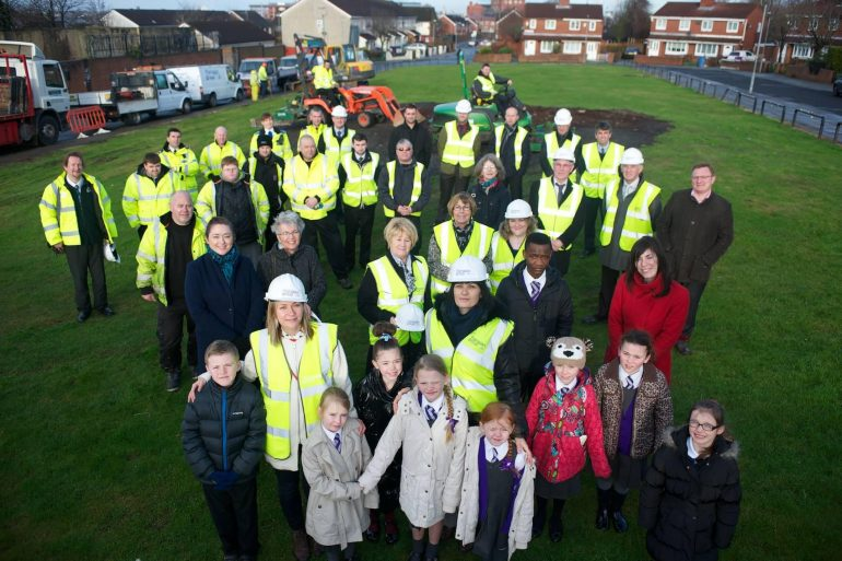 Start of work on Dingle playground