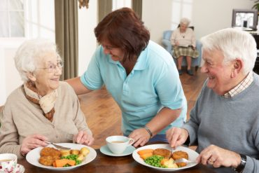 older couple in care home