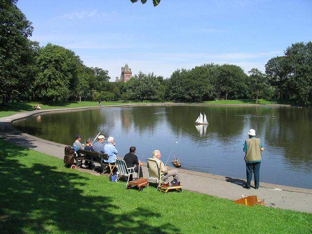 Lake at Newsham Park