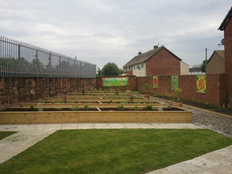 Community garden at Chapman Gardens