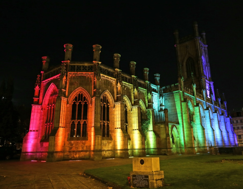 Bombed Out Church Lights Up Liverpool Liverpool Express