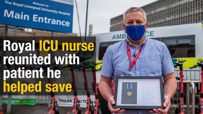 Royal Liverpool University Hospital ICU nurse reunited with patient he helped save