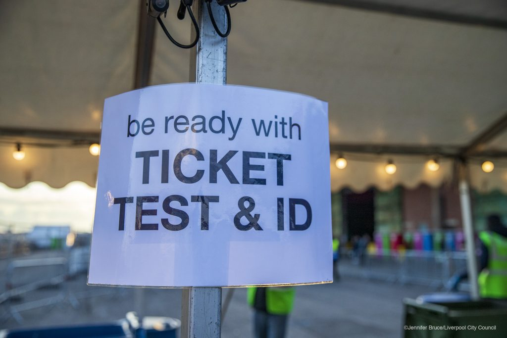 Ticket, test and ID