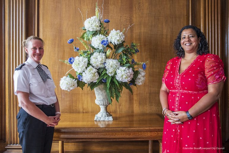 Mayor Joanne with Chief Constable